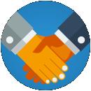 Figura: aperto de mão, representando transparência