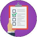 Figura: checklist, representando proatividade